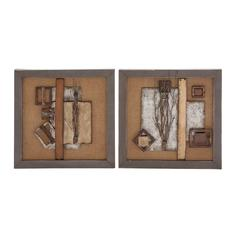 Classy Styled Metal Wall Décor 2 Assorted