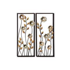 Set Of 2 Beautiful And Elegant Metal Wall Decorative