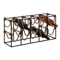 Benzara Exquisite And Uniquely Designed Metal Rope Wine Rack