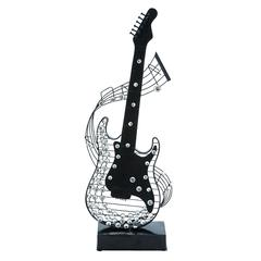 Metal Acrylic Guitar 27 Inches High