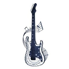 "Metal Acrylic Guitar 36""H, 14""W Wall Decor"