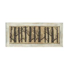 "Forested Wood Metal Wall Decor 36""W, 15""H"