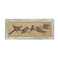 "Benzara Birds Wood Metal Wall Decor 36""W, 15""H"