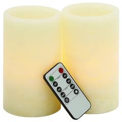 Benzara Mesmerizing Led Flameless Candle Remote Set