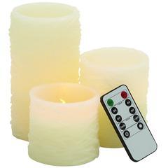 Benzara Beautiful Led Flameless Candle Remote Set