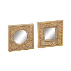 Benzara Artistic Set Of 2 Mirror Wall Décor