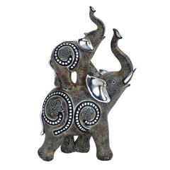 """Table Top Polystone Elephant 11""""H, 5""""W Statue"""