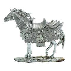 Benzara Classic Silver Horse Table Decor