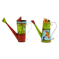 Benzara Bright And Colorful Watering Cans