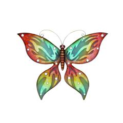 Benzara Fashionable Cherry Metal Wall Butterfly Décor
