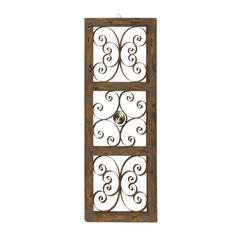 Benzara The Wonderful Wood Metal Wall Panel