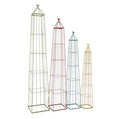 Benzara The Useful Set Of 4 Metal Garden Trellis