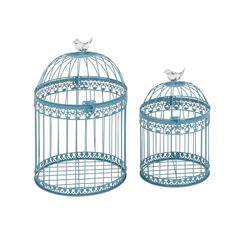 Benzara Attractive And Lovely Set Of 2 Acrylic Bird Cages