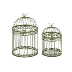 Benzara Exquisite And Lovely Set Of 2 Acrylic Bird Cages