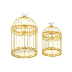 Unique And Attractive Set Of 2 Acrylic Bird Cages
