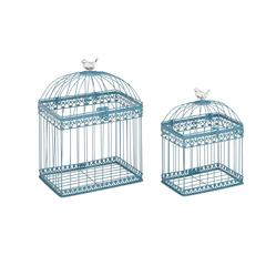 Adorable And Unique Set Of 2 Acrylic Bird Cages