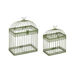 Benzara Adorable And Unique Set Of 2 Acrylic Bird Cages