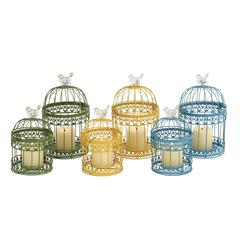 Benzara The Cool Set Of 2 Metal Lantern 3 Assorted