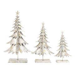 Benzara Impressive Set Of 3 Metal Xmas Tree