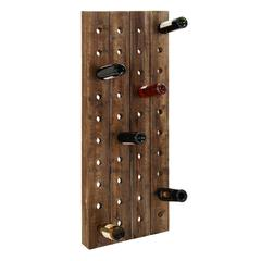 "Benzara Wall Wine Racks- Wood Wine Rack 57""H, 21""W"