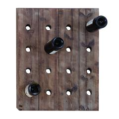 Classy Wall Mount Wine Rack With 16 Slots