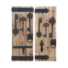 Benzara Magical Key Door Wall Plaque Set