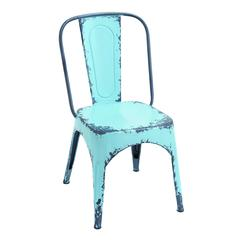 Blue Chair With Dash Of Color And Vibrancy In Classic Style