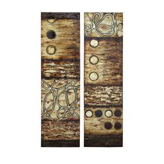 Benzara Wooden Canvas Wall Art