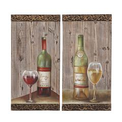 Benzara Unique And Attractive Assorted Set Of Two Wall Panel