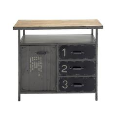 Unique And Stylish Multipurpose Metal Wood Utility Cabinet