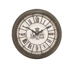 Benzara Antique Themed Metal Wall Clock