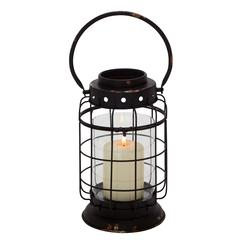 Ethnic Styled Metal Glass Lantern