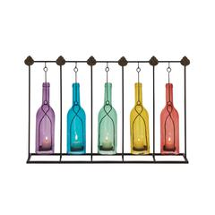 Benzara Creatively Styled Metal Glass Votive Holder