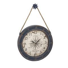 Benzara Classily Designed Metal Wood Wall Clock