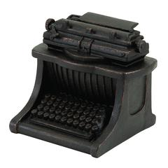 "Polystone Typewriter Decor 7""H, 7""W Unique Home Accents"