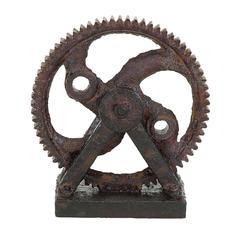 Industrial Style Rusted Gear Décor