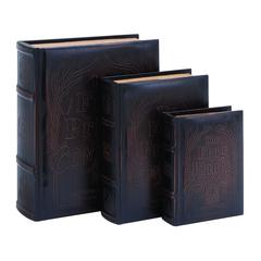 Benzara Frog Prince Continued Book Box Set In Smooth Leather