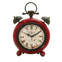 Classic Alarm Clock Themed Table Top Clock