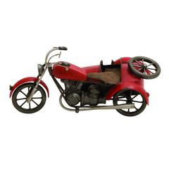 Vintage Motorcycle With Sidecar Décor