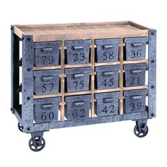 Portable Storage Cart With Numbered Drawers