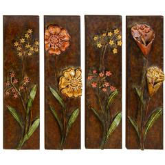 Metal Wall Decor Set Of 4 Assorted Low Priced