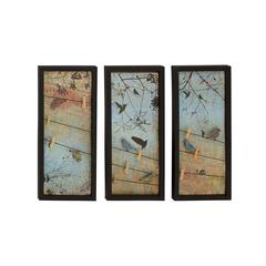 Alluring Styled Metal Wall Decorative 3 Assorted