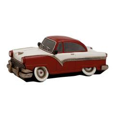 Brown Polished Fancy Polystone Car Piggy Bank