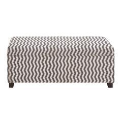Benzara The Zebra Wood Fabric Strong Bench