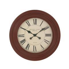 "Benzara Splendid Wood Wall Clock 28""D"