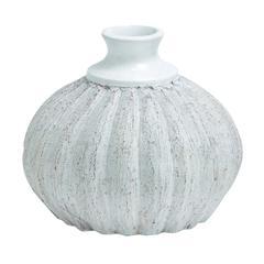 Benzara Lightweight & Weather Resistant Cer Quasa Vase In Terracotta