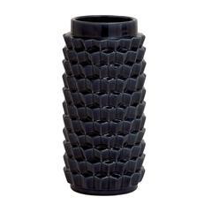 Black Colored Fascinating Ceramic Crackled Vase