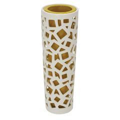 Benzara Contemporary Styled Classy Ceramic Pierced Vase