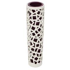 Benzara Unique Styled Superb Ceramic Pierced Vase