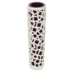 Benzara Magnificent Styled Striking Ceramic White Vase